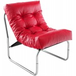 Design lounge armchair ISERE in polyurethane (red)