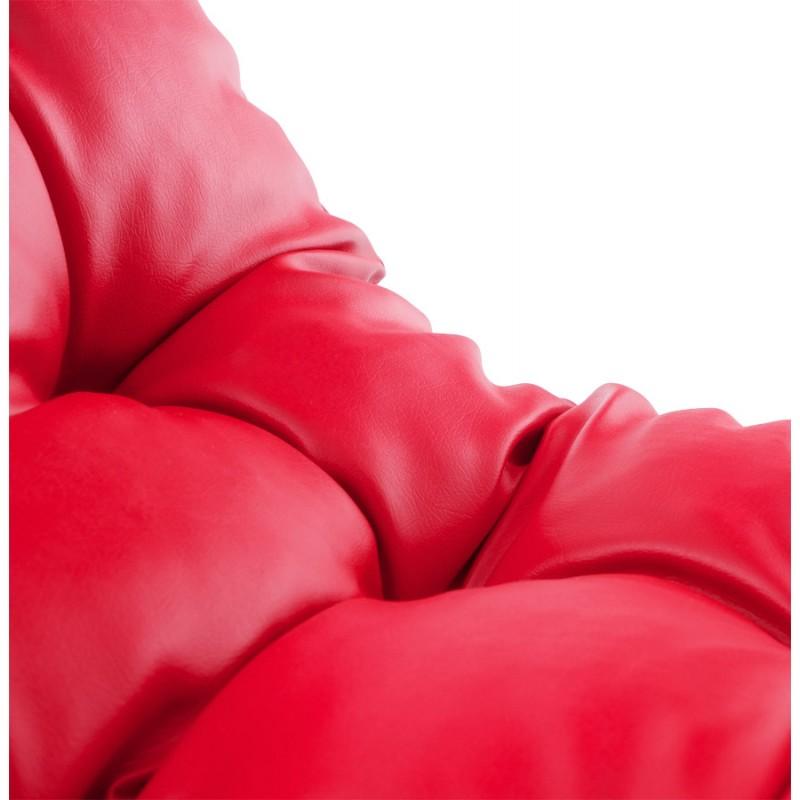 Fauteuil lounge design ISERE en polyuréthane (rouge) - image 18407