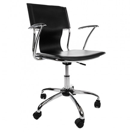 CHIPIE rotary office armchair in polyurethane (black)