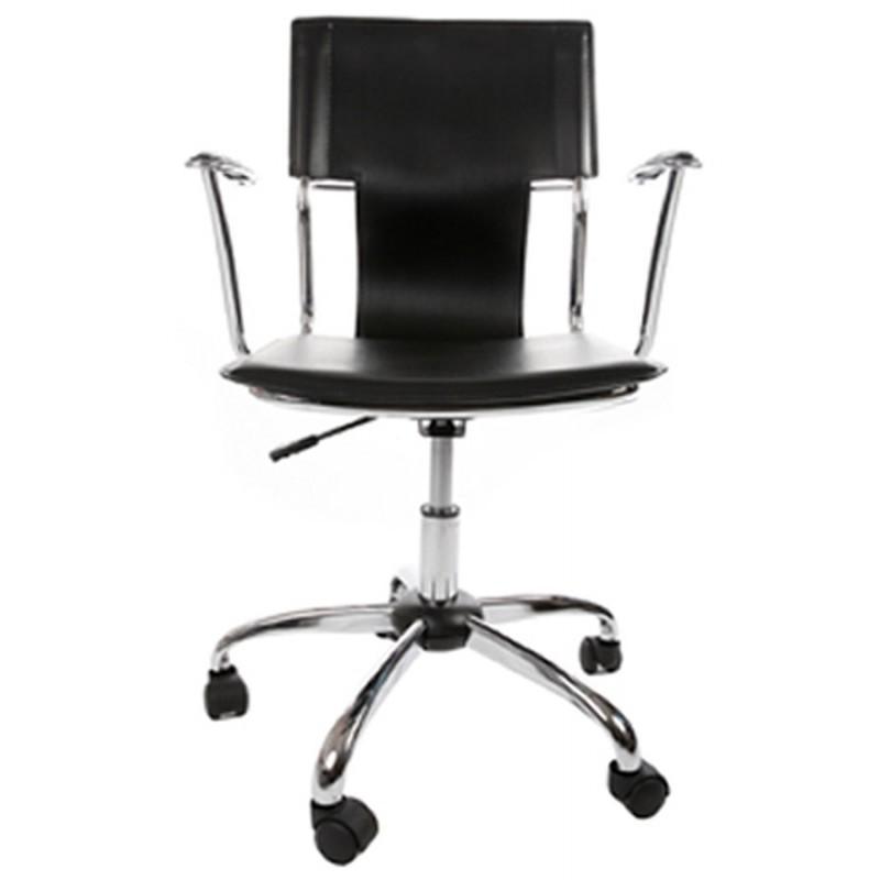 fauteuil de bureau chipie rotatif en polyur thane noir. Black Bedroom Furniture Sets. Home Design Ideas