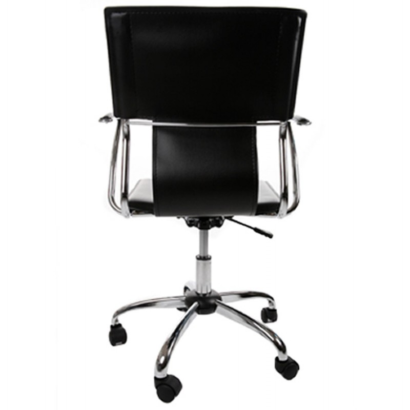 CHIPIE rotary office armchair in polyurethane (black) - image 18423