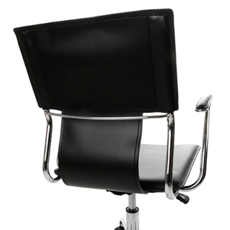 CHIPIE rotary office armchair in polyurethane (black) - image 18425