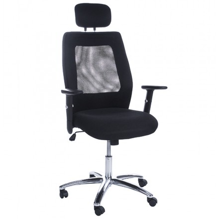 Office armchair CHOUCAS in textile (black)