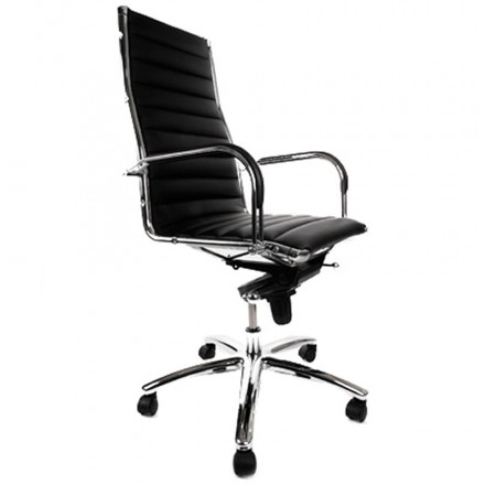 COLOMBE rotating office chair in polyurethane (black)