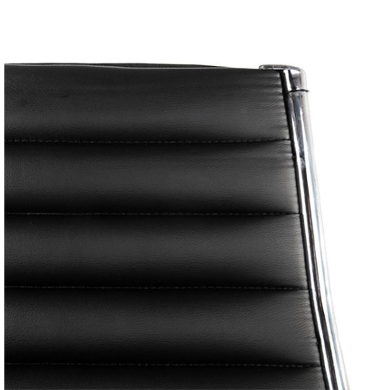 Fauteuil de bureau rotatif COLOMBE en polyuréthane (noir) - image 18448