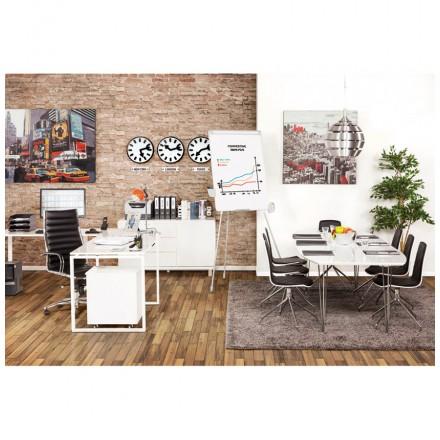 Giratoria sillón de oficina de poliuretano COOMBE (negro) AMP Story 3113