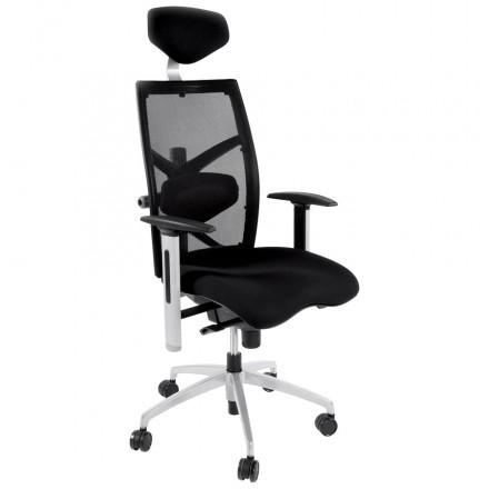 Büro Sessel CORNUE Stoff (schwarz)