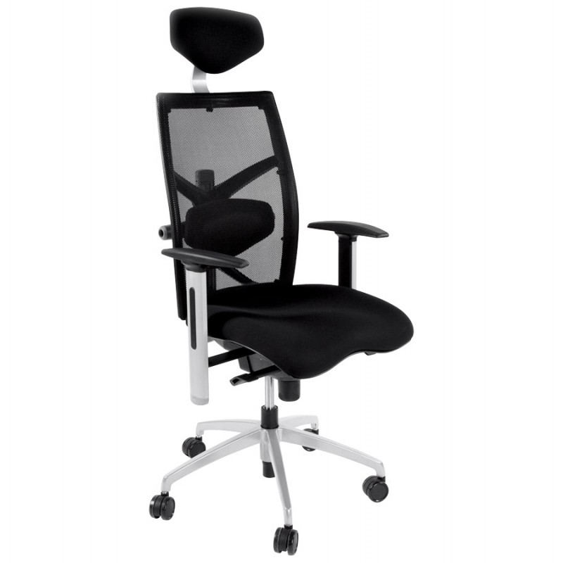 Büro Sessel CORNUE Stoff (schwarz)  - image 18455