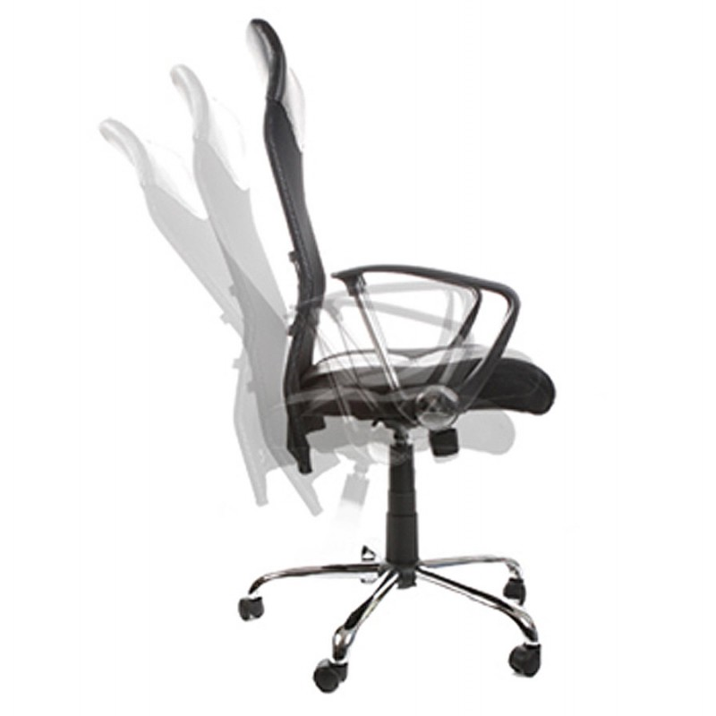 CONDOR armchair office in polyurethane and fabric mesh (black) - image 18493
