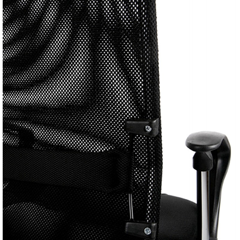 Fauteuil de bureau CONDOR en polyuréthane et tissu maille (noir) - image 18495