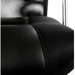 Oficina sillón CONDOR en poliuretano y tela de malla (negro)