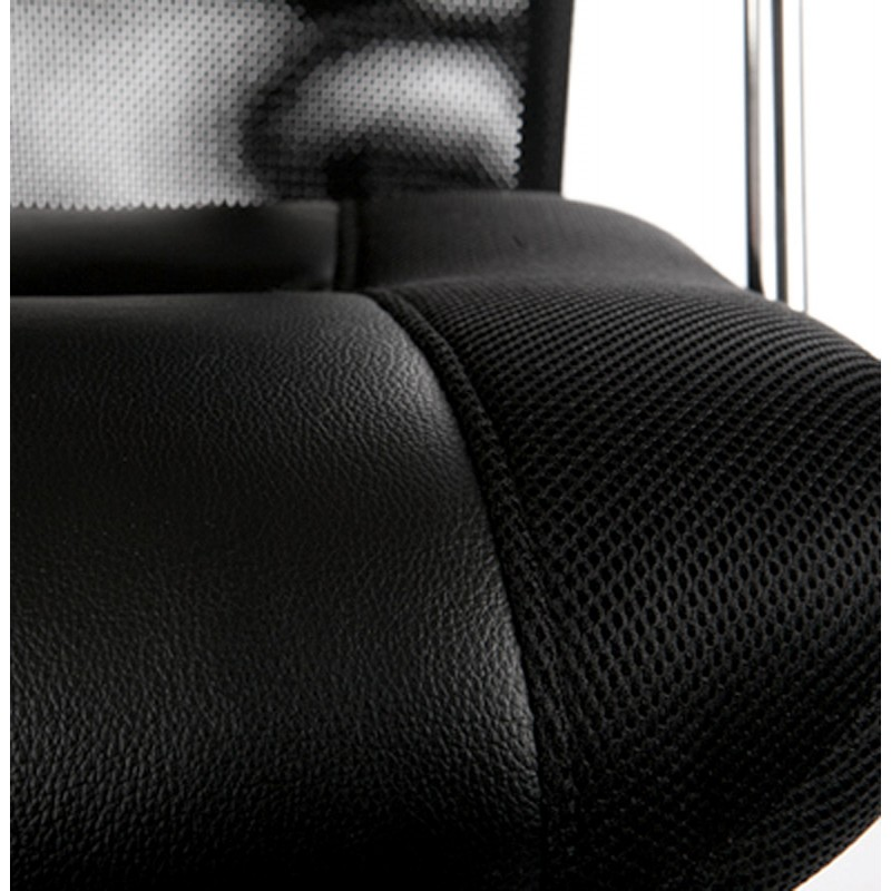 CONDOR armchair office in polyurethane and fabric mesh (black) - image 18496