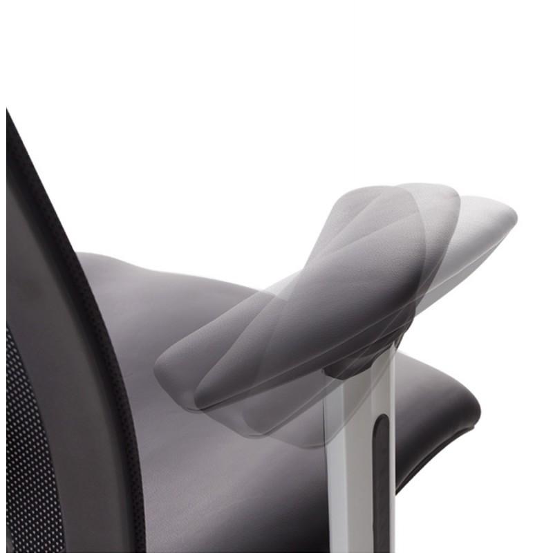 Fauteuil de bureau COQUETTE en polyuréthane et tissu maille (noir) - image 18507
