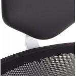 Sedia ufficio COQUETTE in poliuretano e tessuto mesh (nero)