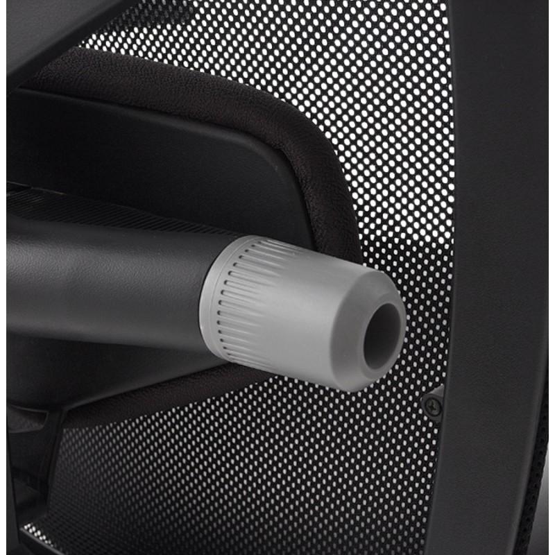 Fauteuil de bureau COQUETTE en polyuréthane et tissu maille (noir) - image 18510