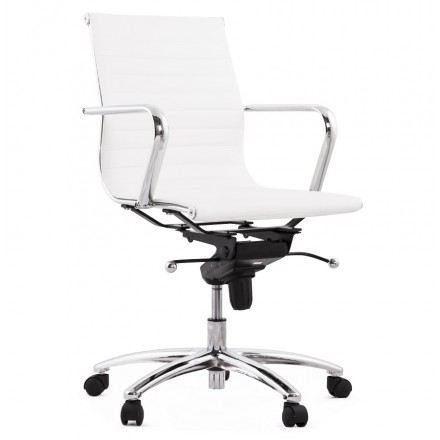 COURIS rotary office armchair in polyurethane (white)