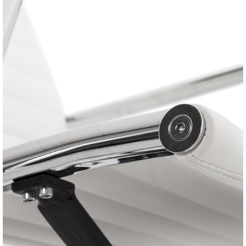 Fauteuil de bureau rotatif COURIS en polyuréthane (blanc) - image 18538