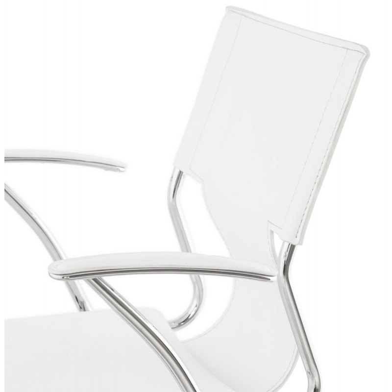 chipie rotary office armchair in polyurethane white. Black Bedroom Furniture Sets. Home Design Ideas