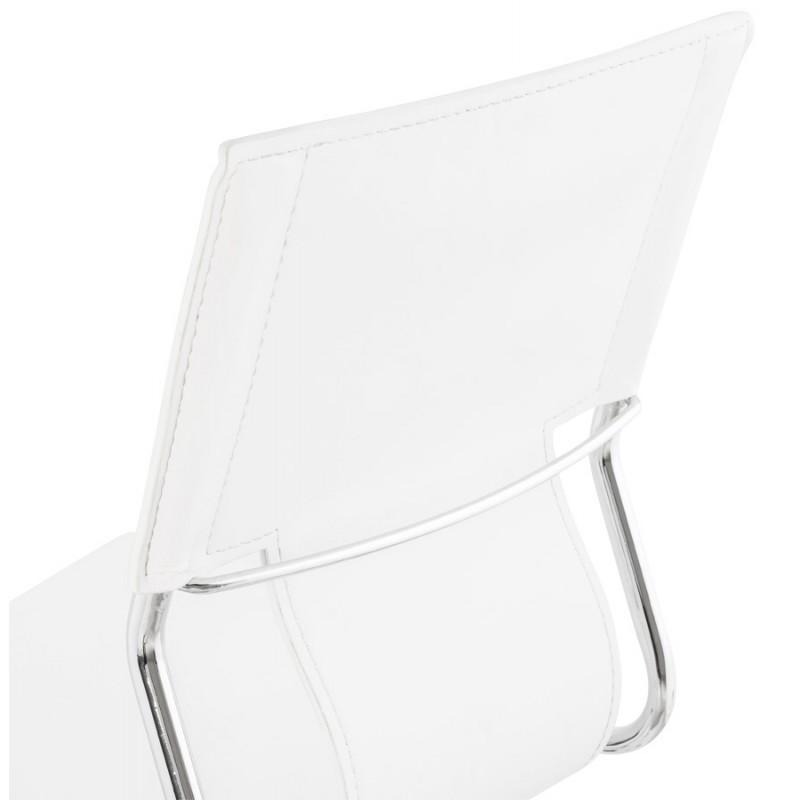 Fauteuil de bureau CHIPIE rotatif en polyuréthane (blanc) - image 18645