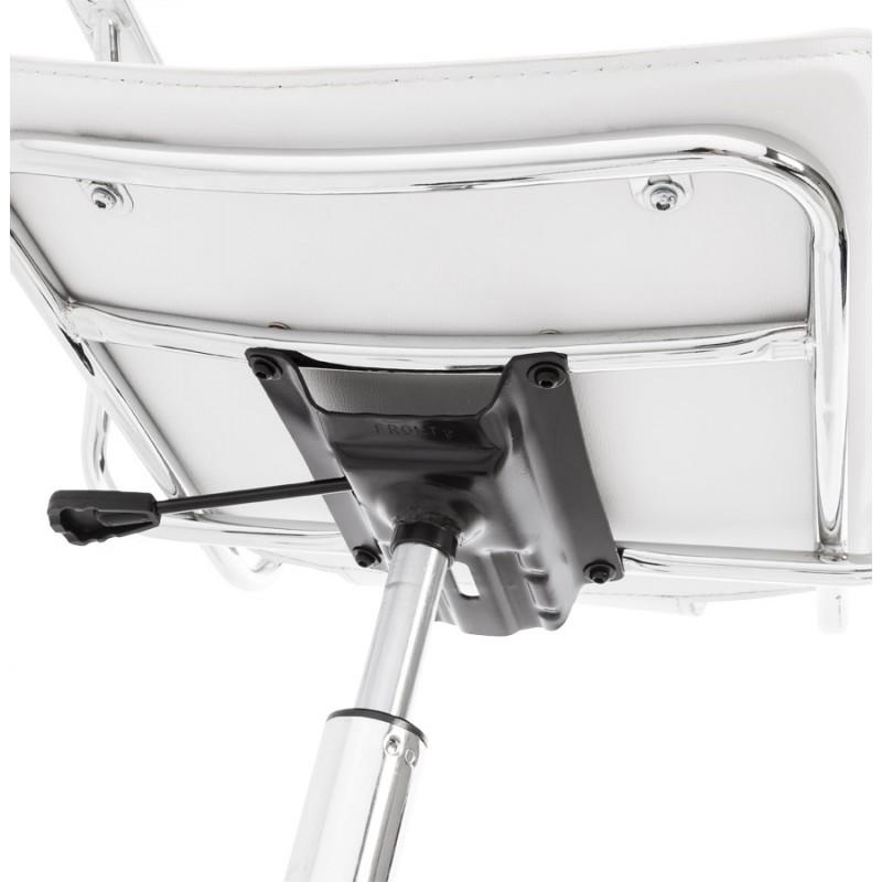 Fauteuil de bureau CHIPIE rotatif en polyuréthane (blanc) - image 18648