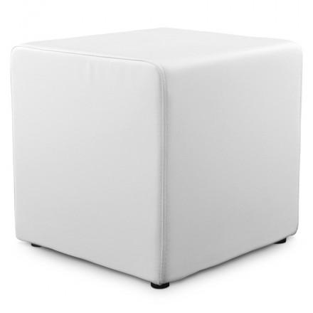 Pouf quadrato CAILLE in poliuretano (bianco)