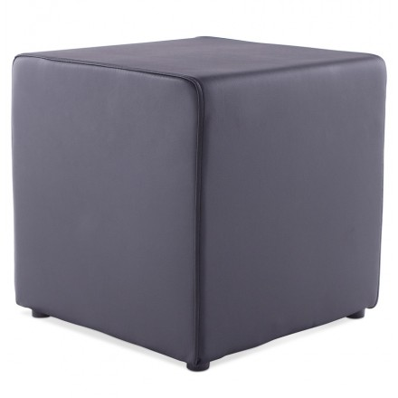 Quadrato quaglie poliuretano pouf (nero)