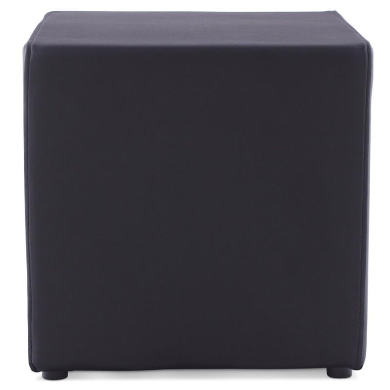 Pouf carré CAILLE en polyuréthane (noir) - image 18658