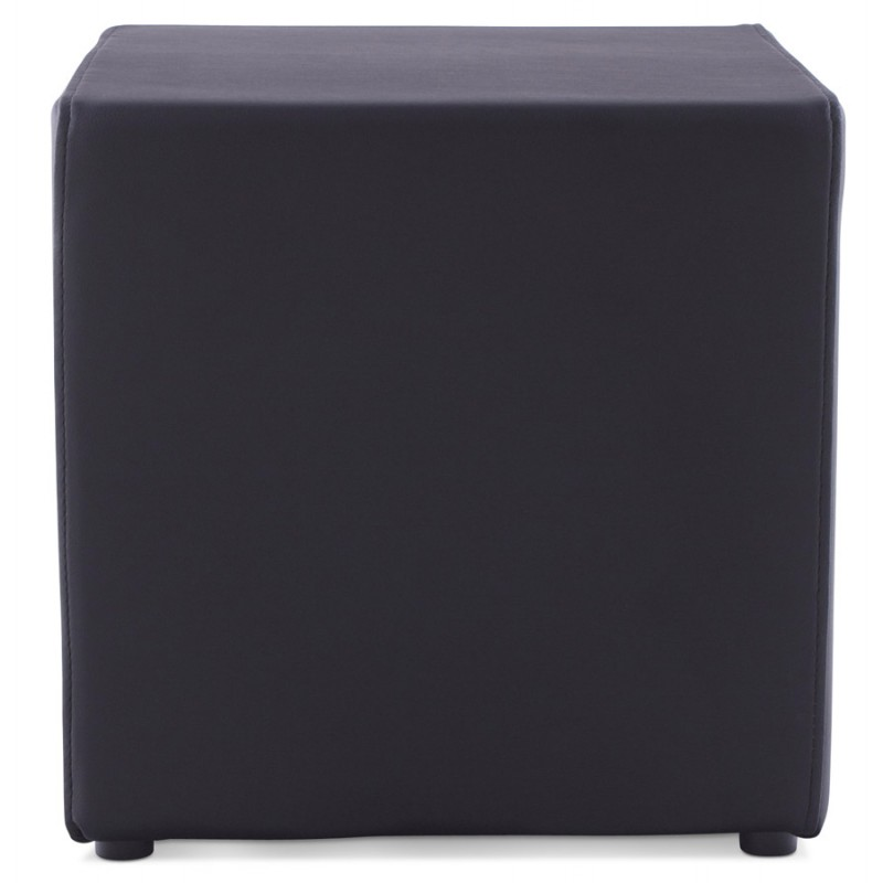 Quadrato quaglie poliuretano pouf (nero) - image 18658