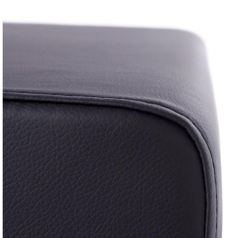 Quadrato quaglie poliuretano pouf (nero) - image 18659