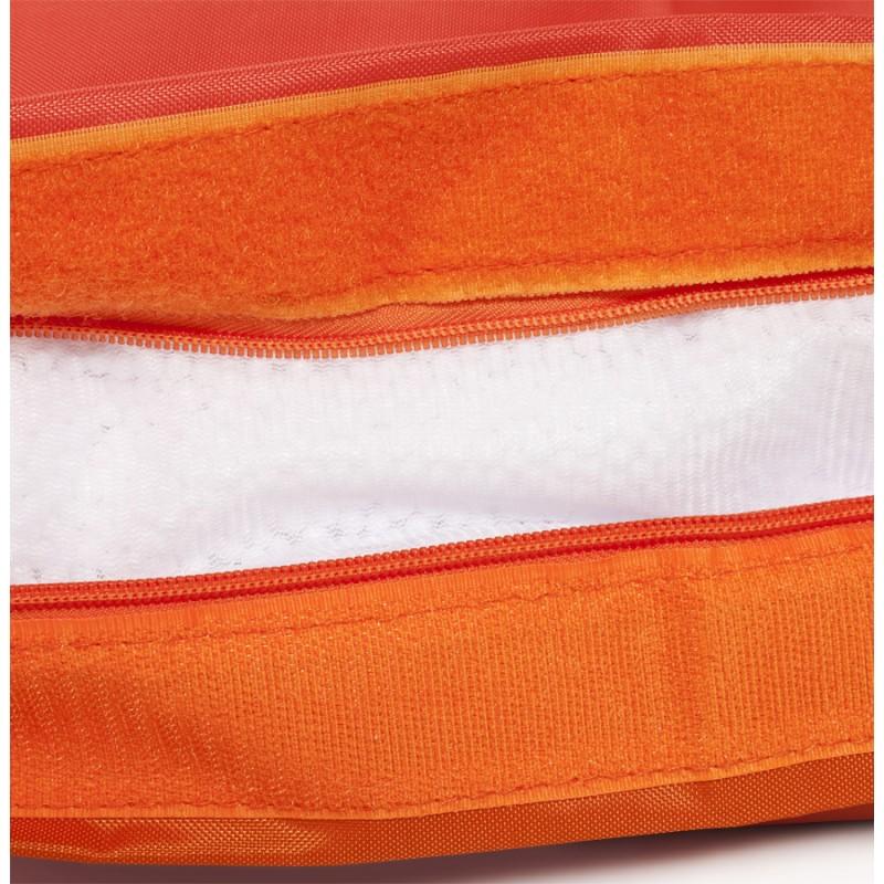 Pouf rectangulaire BUSE en textile (orange) - image 18684