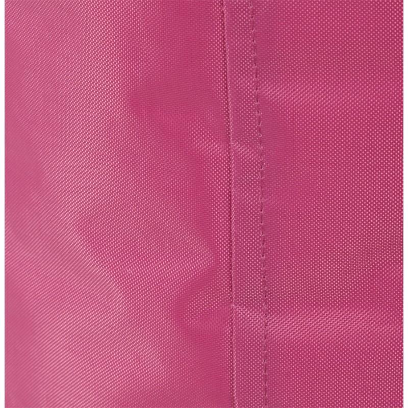 Pouf carré CALANDRE en textile (rose) - image 18690