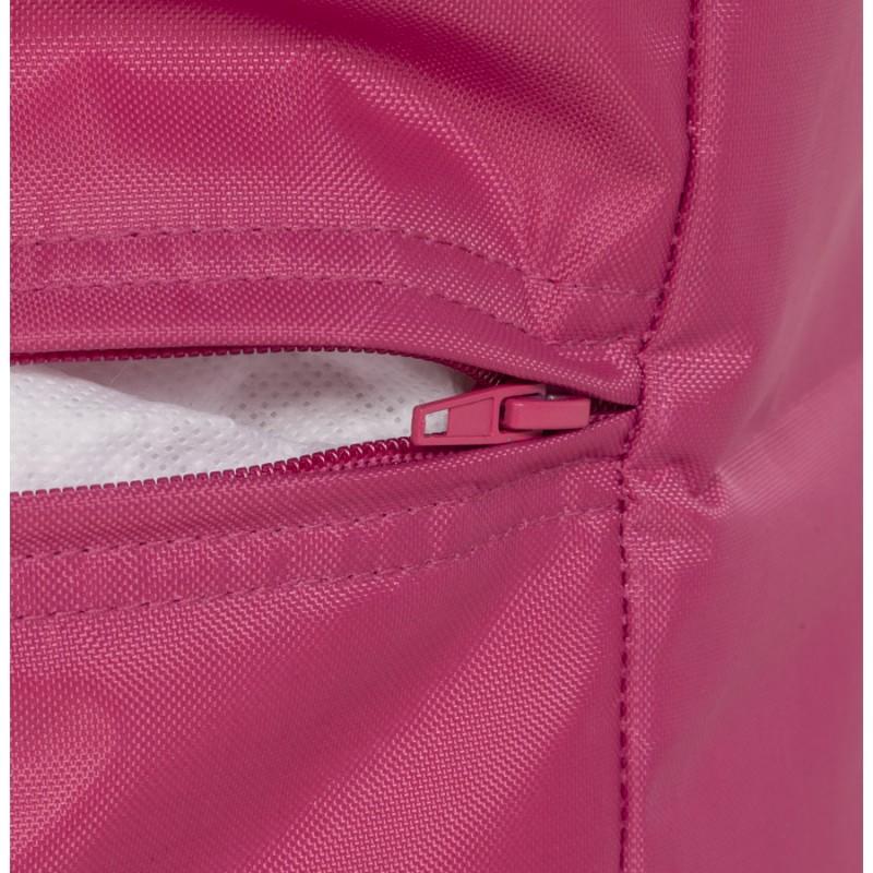 Pouf carré CALANDRE en textile (rose) - image 18691