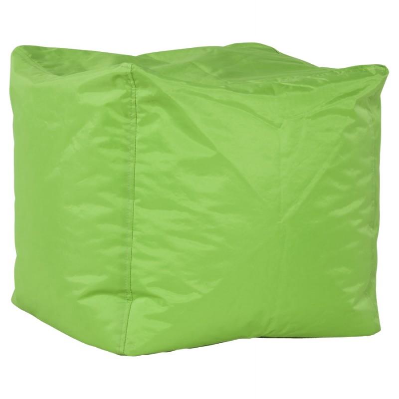 Pouf carré CALANDRE en textile (vert) - image 18699