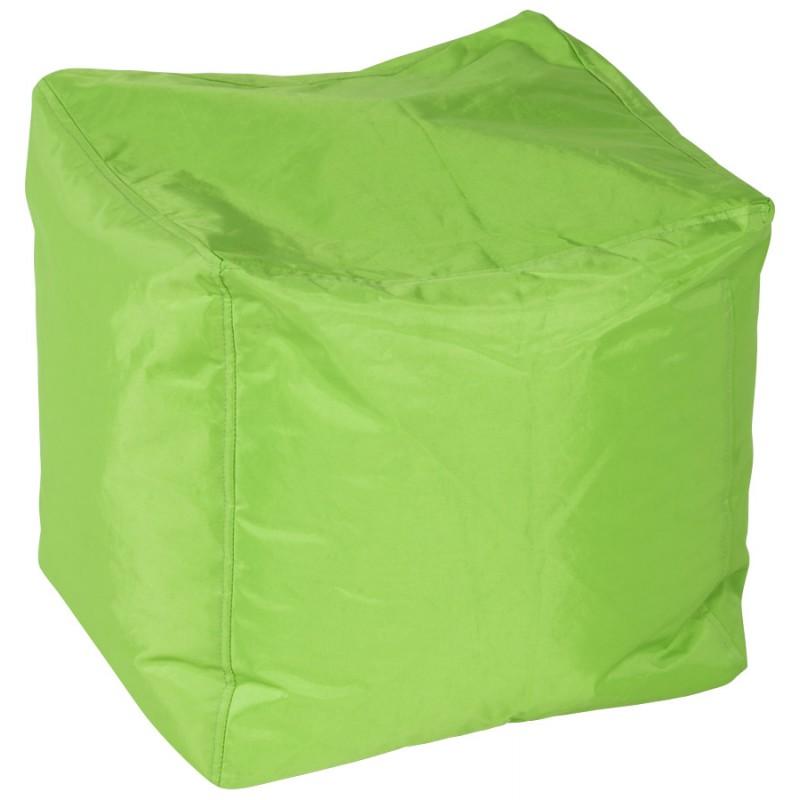 Pouf carré CALANDRE en textile (vert) - image 18701