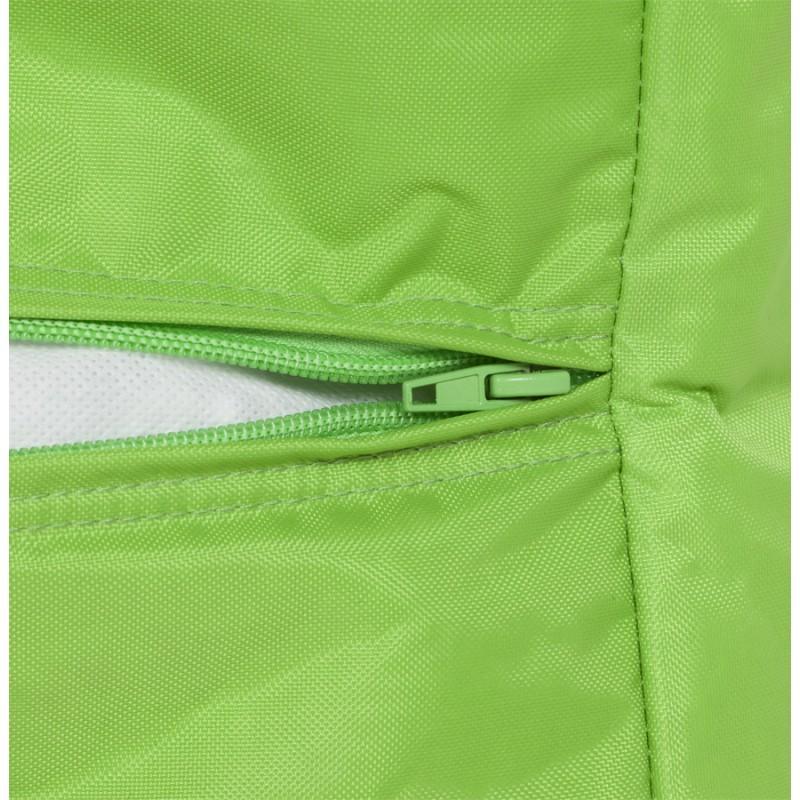 Pouf carré CALANDRE en textile (vert) - image 18704