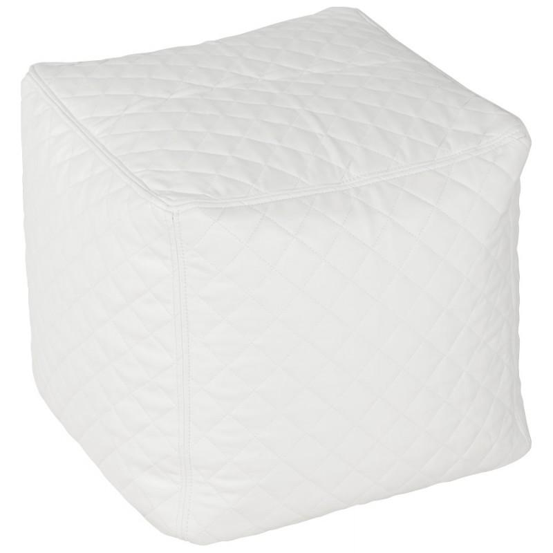 Pouf carré CARIL en polyuréthane (blanc) - image 18709