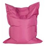 Pouf rectangulaire BUSE en textile (rose)