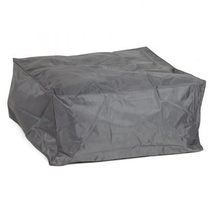 Pouffe rectangular CAMA textile (grey)