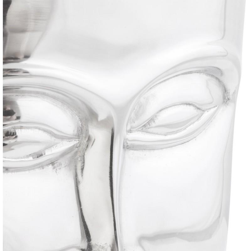 Pouf design NATE en aluminium poli  - image 18739