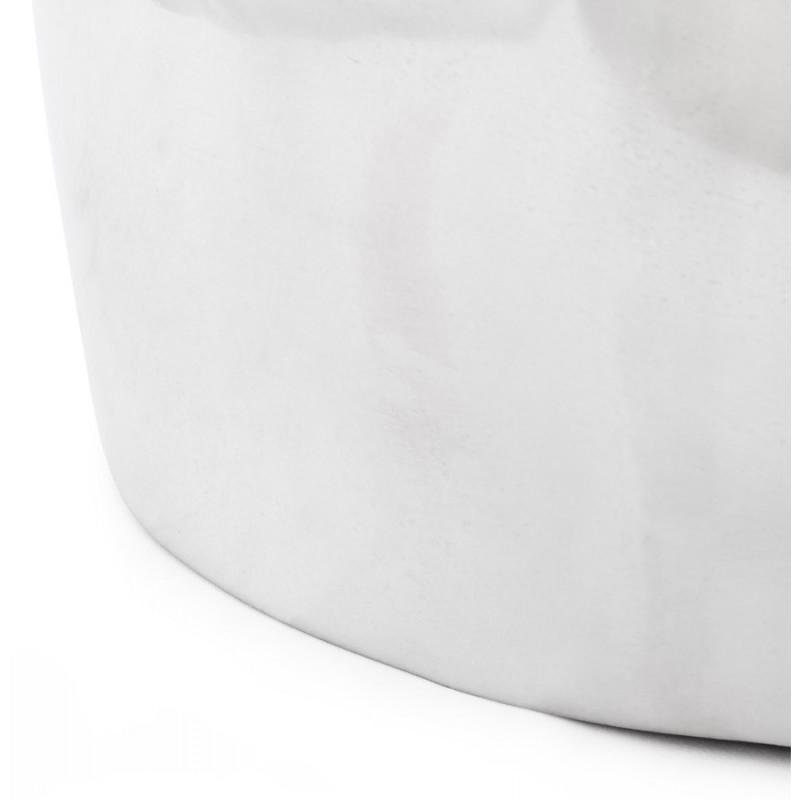 Pouf design NATE en aluminium poli  - image 18740