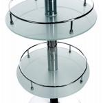 Meuble bar design BORA BORA en verre et métal chromé (transparent)