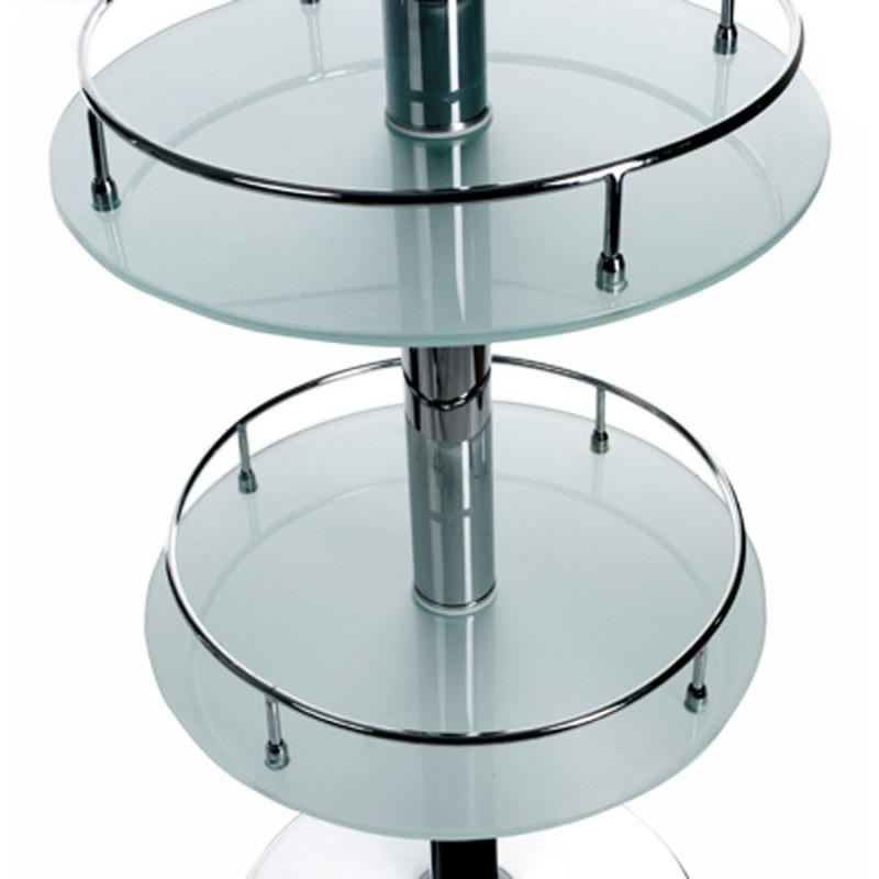 Meuble bar design BORA BORA en verre et métal chromé (transparent) - image 19805