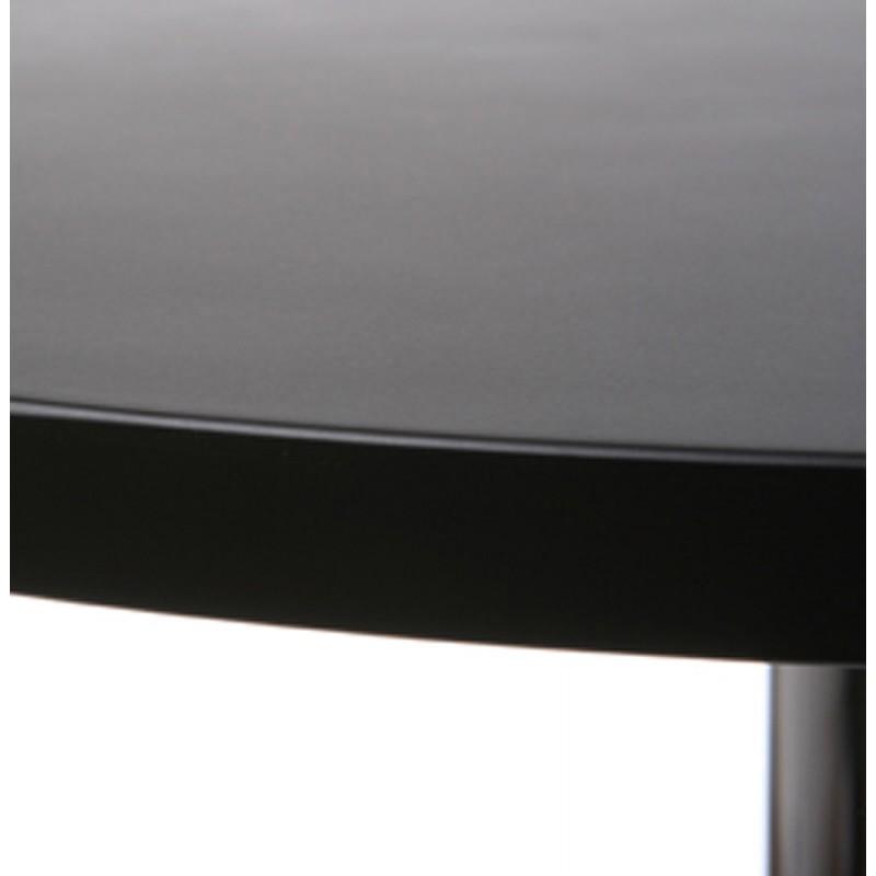 Table haute d'appoint BALEARE en bois et métal chromé (Ø 60 cm) (noir) - image 19815