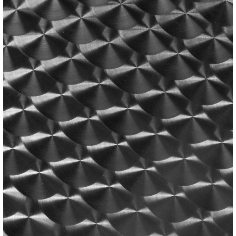 Plateau de table rond ANIS bois et acier inoxydable (70cmX70cmX2cm) - image 19830