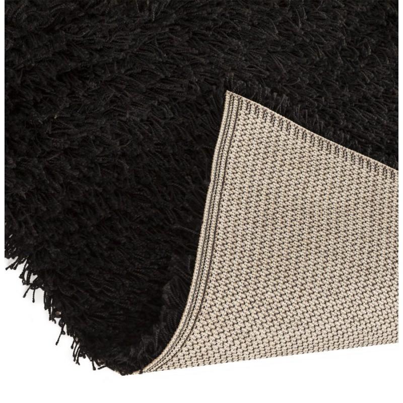tapis contemporain madagascar rectangulaire grand mod le 160 x 230 noir. Black Bedroom Furniture Sets. Home Design Ideas
