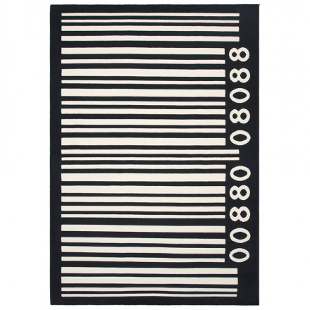 Contemporary Rugs large rectangular BARCODE model (160 X 230) (black, white)