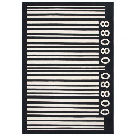 Alfombras grandes rectangulares BARCODE contemporáneo (160 X 230) (negro, blanco)