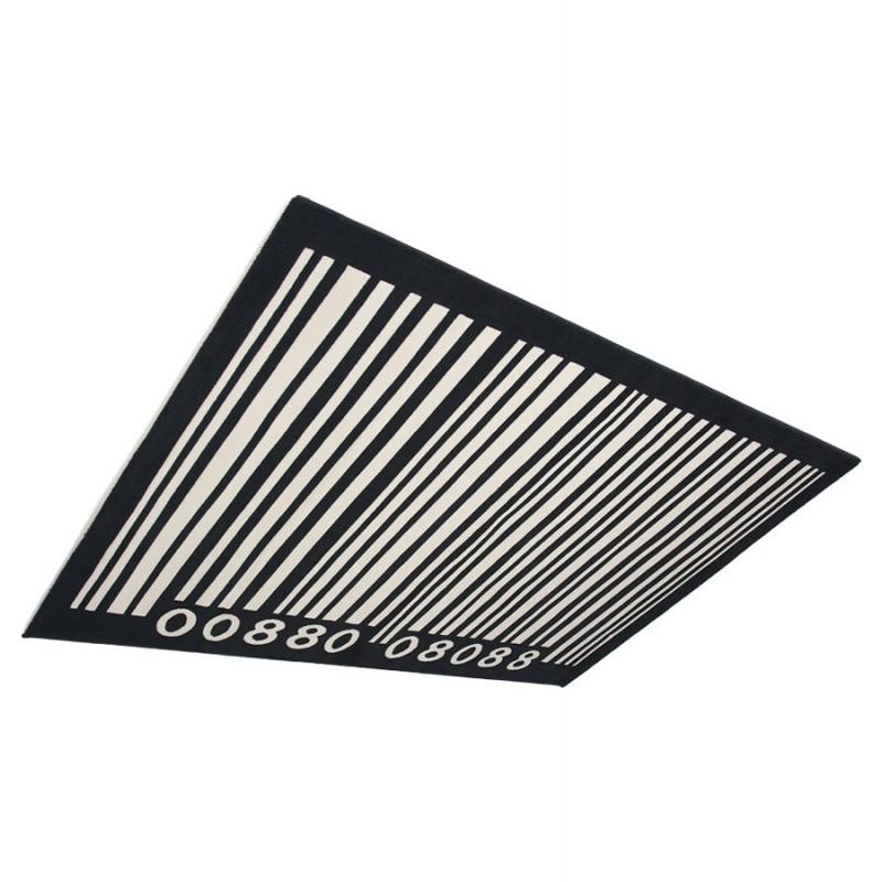 Tapis contemporain BARCODE rectangulaire grand modèle (160 X 230) (noir, blanc) - image 19900