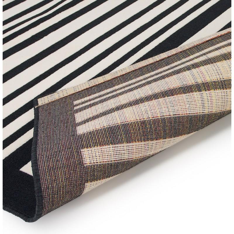 Tapis contemporain BARCODE rectangulaire grand modèle (160 X 230) (noir, blanc) - image 19902