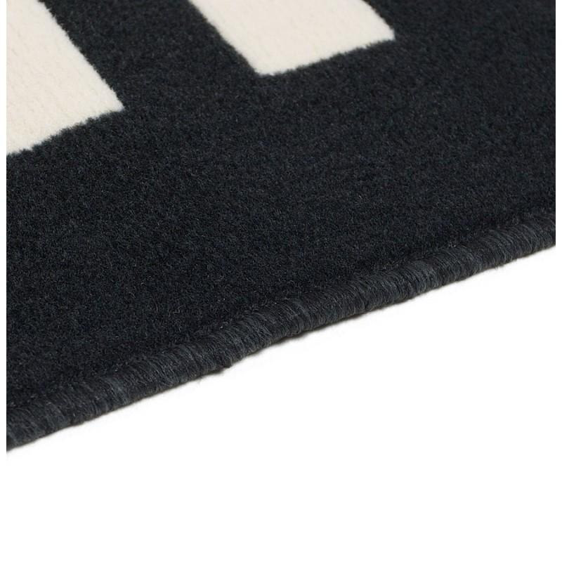 Tapis contemporain BARCODE rectangulaire grand modèle (160 X 230) (noir, blanc) - image 19903